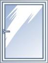 Одностворчатое пластиковое окно